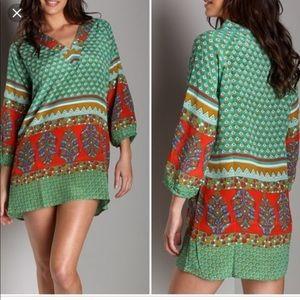 Tolani Collection Tunic Nisha Green SMALL